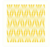 Yellow Triangles Art Print