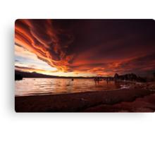 Mono Lake – Smoldering skies Canvas Print
