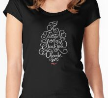 P.ink Day 2015 Shirt: white type Women's Fitted Scoop T-Shirt