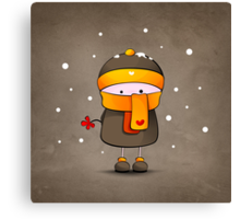 alone in the snow Canvas Print