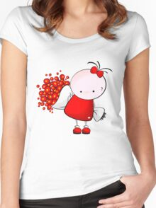 Flowers for you Women's Fitted Scoop T-Shirt