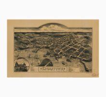 Panoramic Maps Edgartown Duke's County Martha's Vineyard Id Mass Baby Tee