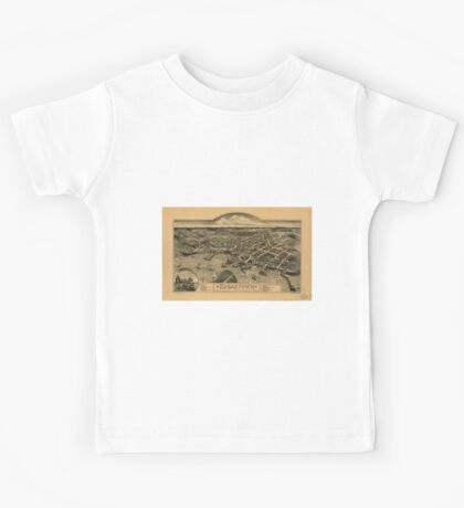 Panoramic Maps Edgartown Duke's County Martha's Vineyard Id Mass Kids Tee