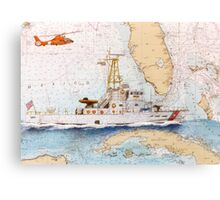 USCG Sapelo Helicopter FL Chart Map Cathy Peek Canvas Print