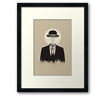 Magritte | The Loading of Man Framed Print
