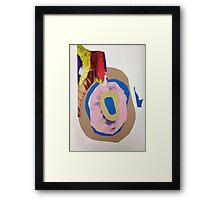 Pig ribbon  Framed Print