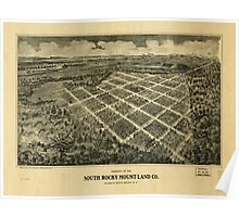 Panoramic Maps Property of the South Rocky Mount Land Co at South Rocky Mount NC Poster