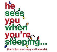 Creepy Santa Photographic Print