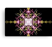 pink yellow on Black Canvas Print