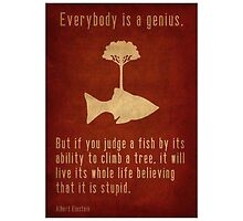 """""""Everybody is a genius..."""" by Chippie-85"""
