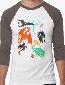A Flight with Dragons Men's Baseball ¾ T-Shirt