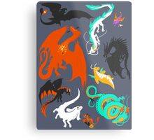 A Flight with Dragons Metal Print