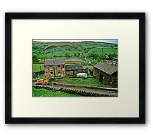 Pennine Landscape, N. England, UK., 1980s. Framed Print