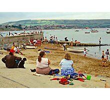 Beach scene, Weymouth, UK., 1980s. Photographic Print