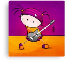 Rockstar Girl Canvas Print