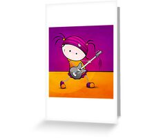 Rockstar Girl Greeting Card