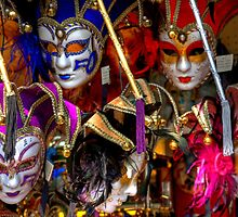 Venetian Masks by Tom Gomez