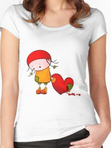 Me And My Heart Women's Fitted Scoop T-Shirt