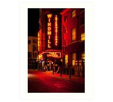 Red Light London - The Windmill Art Print