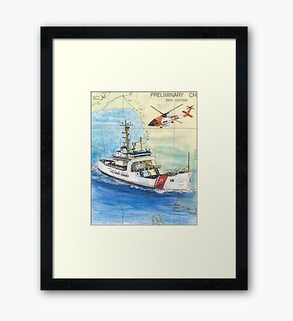 USCG Storis Nautical Chart Map Cathy Peek Framed Print