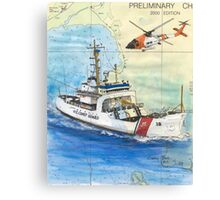 USCG Storis Nautical Chart Map Cathy Peek Canvas Print