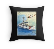 USCG Storis Nautical Chart Map Cathy Peek Throw Pillow