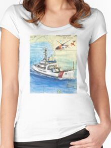 USCG Storis Nautical Chart Map Cathy Peek Women's Fitted Scoop T-Shirt