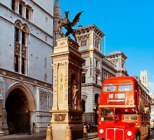 Timeless London - Routemaster Bus at Temple Bar by Mark Tisdale