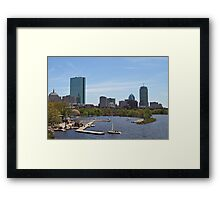 Boston & The Charles River Framed Print