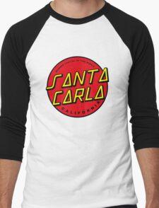 Santa Carla Skate Logo  Men's Baseball ¾ T-Shirt