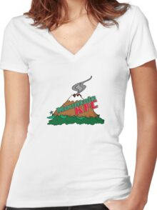 Mountain KFC Women's Fitted V-Neck T-Shirt