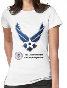 Air Force Remembers  Womens Fitted T-Shirt