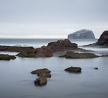 Bass Rock from Laird Laidley's harbour by Christopher Cullen