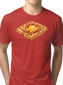 Waffle Pattern Tri-blend T-Shirt