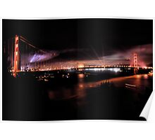 Fireworks - 75th Anniversary of the Golden Gate Bridge Poster