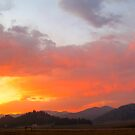 Tarryall Sunset by Springer Fire by Christine Ford