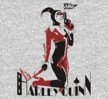 Harley Quiin up Guns One Piece - Long Sleeve