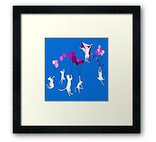 Flying Cats Framed Print
