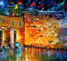 WAILING WALL - OIL PAINTING BY LEONID AFREMOV by Leonid  Afremov