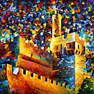 TOWER OF DAVID - OIL PAINTING BY LEONID AFREMOV by Leonid  Afremov