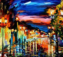 THE ROAD OF MEMORIES - OIL PAINTING BY LEONID AFREMOV by Leonid  Afremov