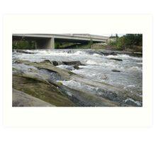 Hocking River Riffles Art Print