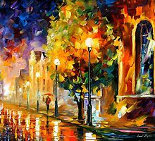 BEFORE SUNRISE - OIL PAINTING BY LEONID AFREMOV by Leonid  Afremov