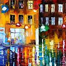 THE CITY OF RAIN - OIL PAINTING BY LEONID AFREMOV by Leonid  Afremov