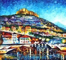 LESBOS - OIL PAINTING BY LEONID AFREMOV by Leonid  Afremov