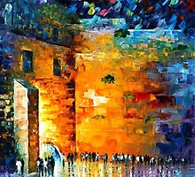 JERUSALEM WAILING WALL - OIL PAINTING BY LEONID AFREMOV by Leonid  Afremov