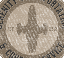 Serenity Transportation & Courier Service Sticker