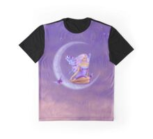 Lavender Moon Butterfly Fairy Graphic T-Shirt