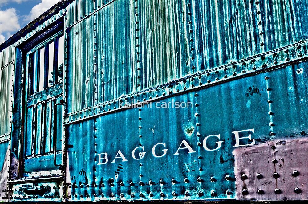 Abandoned Baggage Car- abandoned train yard by kailani carlson
