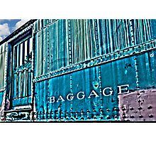 Abandoned Baggage Car- abandoned train yard Photographic Print